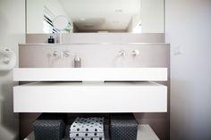 Get inspired... byCOCOON.com for Contemporary Minimalist Modern Luxury Design Bathrooms around the Globe! This modern washbasin FLOAT by #COCOON and #Inox washbasin faucets by #Minimal and available on inoxtaps.com / Bathroom design by #COCOON / Moderne badkamer met#RVSwastafelkranen verkrijgbaar opinoxtaps.com