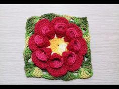 Crochet Flower Tutorial, Crochet Flower Patterns, Crochet Motif, Crochet Designs, Crochet Doilies, Crochet Flowers, Crochet Baby, Crochet Blocks, Crochet Squares