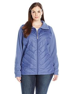 b015a23a717c Columbia Womens PlusSize Mix It Around Full Zip Bluebell 1X   Read more  reviews of the