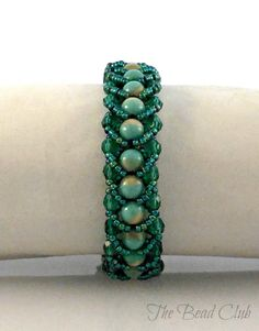 Easy Single- row Flat Spiral Stitch Bracelet ~ Seed Bead Tutorials