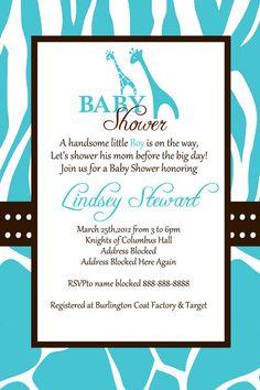 Safari baby shower invitation baby boy diy digital file wild safari baby shower invitation digital file by digitalparties filmwisefo