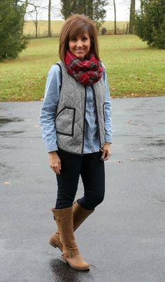 Herringbone Vest and A 3D Mascara Giveaway!