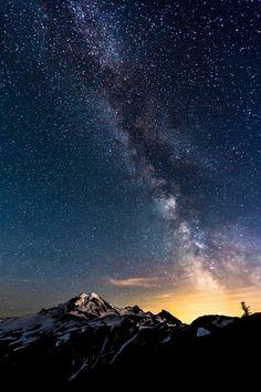 Milky Way near Mount Baker, Washington, photo by Chris Weber