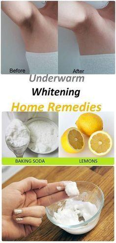 Under Arm Whitening Home Remedies