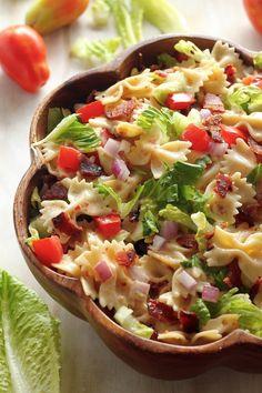 20-Minute BLT Easy Pasta Salad @bakerbynature