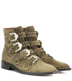 GIVENCHY Elegant Embellished Suede Boots. #givenchy #shoes #boots