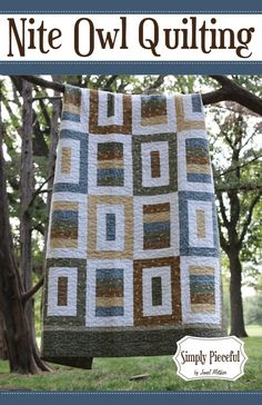 Simply Pieceful PDF Quilt pattern written baby, twin, full, queen, and king sizes