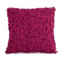"Pillow | Description: ""like scrumptious hot pink chocolate cake shavings"". Delish!"