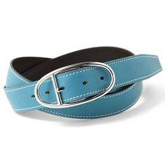 Hermes Leather Belt Blue/Black - Dobestbuy