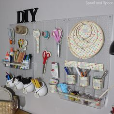 Spool and Spoon: Craft Room Organization: Peg Board
