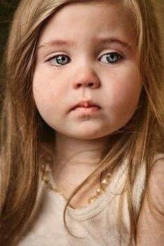 Awwww...look at the little tears ..she's so sad.