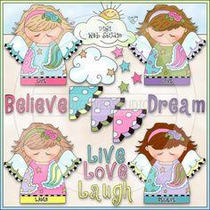 Dream Angels 1 - NE Cheryl Seslar Clip Art
