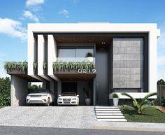 Modern Exterior House Designs, Modern House Design, Exterior Design, Concrete Architecture, Modern Architecture House, Villa Design, Facade Design, 10 Marla House Plan, Morden House