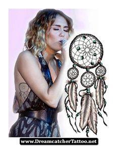 Miley Cyrus Dreamcatcher Tattoo Design 12 - http://dreamcatchertattoo.net/miley-cyrus-dreamcatcher-tattoo-design-12/