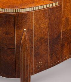 David–Weill desk, ca. 1918–19 Émile–Jacques Ruhlmann (French, 1879–1933) Amboyna, ivory, sharkskin, silk; H. 37 1/2 in. (95.3 cm), W. 47 1/2 in. (120.7 cm), D. 29 1/2 in. (74.9 cm)