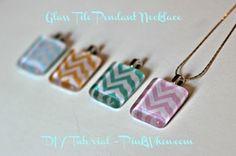 DIY Glass Tile Pendant Necklace
