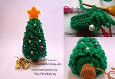 Arbol de Navidad en Crochet. Amigurimi - Patrones  Crochet Loopy Tree Cute Pattern - but not in English