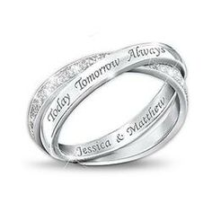 Sterling Silver Diamond Infinity Ring: Today, Tomorrow, And Always  $149.00