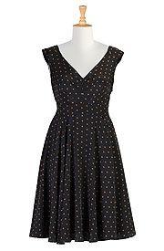 Retro Polka Dot Dress | ElegantPlus.com Editors Pick Spring 2013.  Sizes S-6X.
