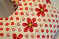 Inspiration: embroidery transforms polka dot fabric...