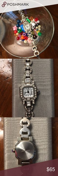 "Vintage Pedre Marcasite Watch * New Battery* Vintage Pedre Marcasite watch. Stamped Japan Movt. I just had a new battery put in!!! Measure 7"" Such a beautiful vintage watch!! A statement watch for sure!!! Pedre Accessories Watches"