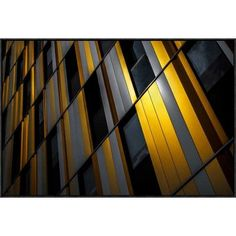 "Global Gallery 'Yellow Wall' by Gilbert Claes Framed Graphic Art Size: 24.1"" H x 36"" W x 1.5"" D"
