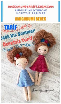 We continue to share Amigurumi knitting toy recipes. This text… – Amigurumi o… Crochet Bunny Pattern, Crochet Amigurumi Free Patterns, Crochet Bear, Cute Crochet, Crochet Dolls, Crochet Doll Tutorial, Amigurumi For Beginners, Bear Doll, Amigurumi Doll