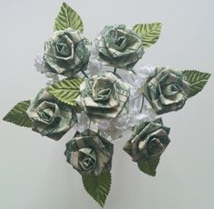 Money rose bouquet made for a previous clientis bouquet will money origami flower bouquet money rose in full bloom crafthubs mightylinksfo Images