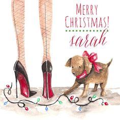 Puppy's First Christmas Gift Sticker/Return Address Sticker  www.carriebethtaylor.com