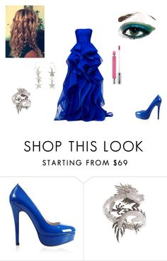 """""""Olympus"""" by musicloverforever-369 ❤ liked on Polyvore featuring Reem, Elise Dray, People Tree, Kat Von D, hairstyles, ring, gown, heels, earrings and makeup"""