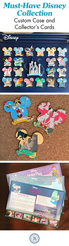 "Capture 20 magical movie moments in this Disney pin collection. From ""Snow White and the Seven Dwarfs"" to ""Tangled"", these unique tributes include a custom display case to show off your entire collection."