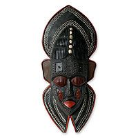 "Ghanian wood mask, ""Protector""."