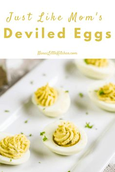 Not gonna brag but our mama's deviled eggs were always THE BEST! Here they are recreated and tasting Just Like Mama's 3 Ingredient Deviled Eggs.