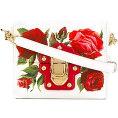 Dolce & Gabbana mini Lucia crossbody bag ($1,295) ❤ liked on Polyvore featuring bags, handbags, shoulder bags, white, white crossbody, leather shoulder handbags, leather cross body purse, crossbody purses and white leather handbags