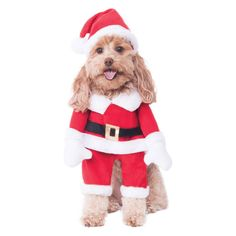 6d1dd1cde4ab7 Halloween Rubie s Walking Santa Dog Costume - L