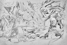 "Saatchi Online Artist Guillaume Pelican; Drawing, ""ombre et lumiere"" #art"