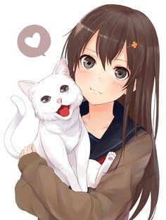 #anime girl # cat