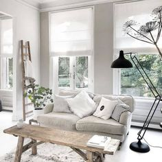 My living room inspiration today is this gorgeous space. Love the wide open windows and soft textures and tones with a neutral and white… Living Room Goals, Living Room Decor, Living Rooms, Living Room Inspiration, Interior Design Inspiration, Minimalist Home Interior, Interior Design Living Room, Home And Living, Home Decor