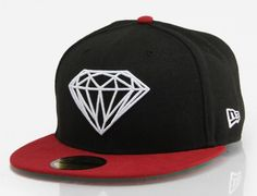 Brilliant Black-Red 59Fifty Fitted Baseball Cap by DIAMOND SUPPLY CO. x NEW ERA