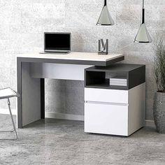 Study Table Designs, Office Table Design, Office Furniture Design, Office Interior Design, Office Interiors, Computer Desks For Home, Home Desk, Decoracion Habitacion Ideas, House Ceiling Design