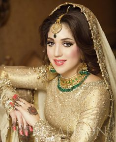 Bride from Pakistan. Pakistani Bridal Couture, Pakistani Bridal Makeup, Pakistani Wedding Dresses, Walima Dress, Bridal Mehndi, Pakistan Bride, Pakistan Wedding, Wedding Wear, Dream Wedding Dresses