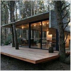 backyard patio designs that you must understand for comfort Wooden House Design, Tiny House Design, Modern Wooden House, Wooden Houses, Container Home Designs, Beton Design, Casas Containers, Luxury Homes Dream Houses, Dream Homes
