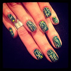 circuit board nails // Trend alert: 35 stylish and unique nail art design ideas for 2014 - Blog of Francesco Mugnai