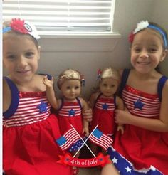 Seen this on American Girl Doll Facebook. Tooo cute. GOD BLESS America. Ag Dolls, Girl Dolls, Doll Patterns, Clothing Patterns, America Girl, Girl Doll Clothes, 4 Kids, Holiday Outfits, July 4th