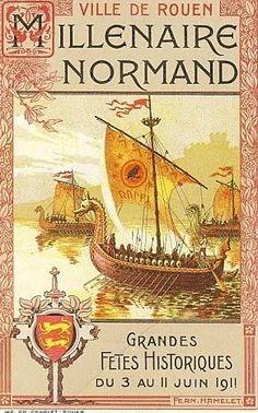 Vintage Travel Poster - Rouen -  Millénaire de la Normandie - 1911.