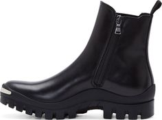 Neil Barrett Black Leather Chelsea Boots