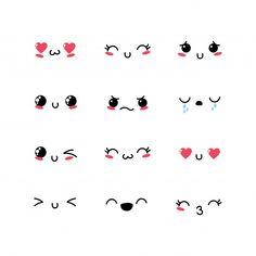 Set kawaii emoji emotion design icon Pre... | Premium Vector #Freepik #vector #love #design #icon #character Emoji Drawings, Easy Doodles Drawings, Easy Doodle Art, Art Drawings Sketches Simple, Simple Doodles, Cute Little Drawings, Cute Easy Drawings, Cute Kawaii Drawings, Kawaii Art