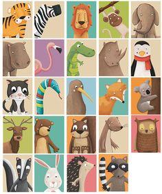 Cute Animal print Nursery Art print your own Woodland