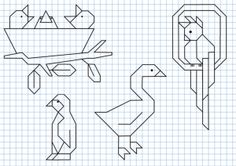 Reproduction Sur Quadrillage - Oiseaux