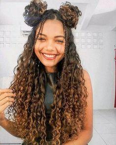 Cute Curly Hairstyles, Curly Hair Tips, Curly Hair Care, Baddie Hairstyles, Long Curly Hair, Braided Hairstyles, Hairstyle For Curly Hair, Mixed Curly Hair, Natural Hair Styles